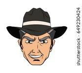 cowboy man cartoon character ... | Shutterstock .eps vector #649230424