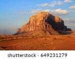 Sunset In The Wadi Rum. Orange...