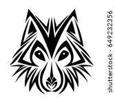 wolf tribal tatto animal... | Shutterstock .eps vector #649232356