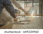 business people using laptop... | Shutterstock . vector #649234960