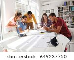 team of designers  on company... | Shutterstock . vector #649237750