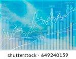 stock excange market analysis... | Shutterstock . vector #649240159