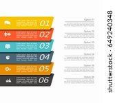 infographic design template... | Shutterstock .eps vector #649240348