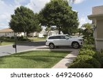 luxury car parked on the...   Shutterstock . vector #649240660