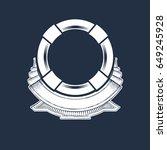 nautical anchor crest   Shutterstock .eps vector #649245928