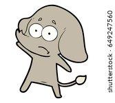 cartoon unsure elephant   Shutterstock .eps vector #649247560