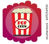 bright flat popcorn icon. the... | Shutterstock .eps vector #649254934