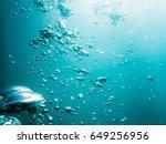 Bubbles In Ocean. Water Texture ...