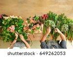 small business. flowers... | Shutterstock . vector #649262053