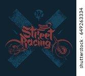 motorcycle t shirt prints... | Shutterstock .eps vector #649263334