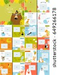 vector photo book with cartoon...   Shutterstock .eps vector #649266178