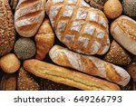Bread Background  Top View Of...