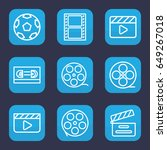 cinematography icon. set of 9... | Shutterstock .eps vector #649267018