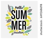 summer design with geometric... | Shutterstock .eps vector #649268698