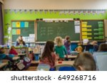 student and teacher learning in ... | Shutterstock . vector #649268716
