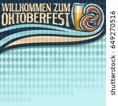 vector poster for oktoberfest... | Shutterstock .eps vector #649270516