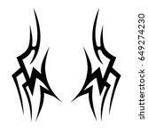 tattoo tribal vector designs.... | Shutterstock .eps vector #649274230