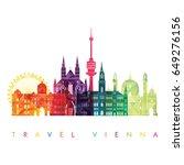 vienna skyline. vector...   Shutterstock .eps vector #649276156