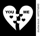 half of heart vector | Shutterstock .eps vector #649276840