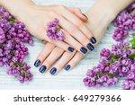 beauty treatment  woman hands... | Shutterstock . vector #649279366