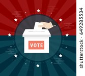 voting concept in flat style  ... | Shutterstock .eps vector #649285534