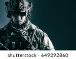 elite member of us army rangers ... | Shutterstock . vector #649292860