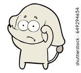cartoon unsure elephant   Shutterstock .eps vector #649294654
