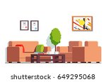 office or clinic waiting room... | Shutterstock .eps vector #649295068