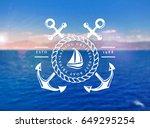 Sailing Cruises Logo On Blurre...