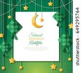 selamat hari raya aidilfitri...   Shutterstock .eps vector #649295764