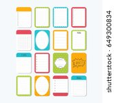 template for notebooks. cute...   Shutterstock .eps vector #649300834