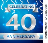 forty years anniversary... | Shutterstock .eps vector #649302958