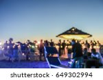 blurred people having sunset... | Shutterstock . vector #649302994