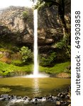 white vale waterfall   Shutterstock . vector #649303858