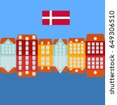 nyhavn pier with color... | Shutterstock .eps vector #649306510