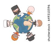 cute characters. judaism rabbi. ... | Shutterstock .eps vector #649310596