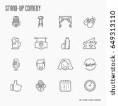 set of thin line icons on theme ... | Shutterstock .eps vector #649313110