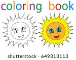 book coloring sun  just | Shutterstock . vector #649313113