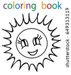book coloring sun  | Shutterstock . vector #649313119