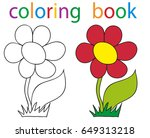 book coloring flowers just | Shutterstock . vector #649313218
