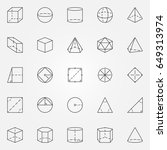 geometry and trigonometry icons ... | Shutterstock .eps vector #649313974