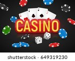 casino banner with a cards ... | Shutterstock .eps vector #649319230