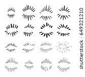 vector set of hand drawn frames ... | Shutterstock .eps vector #649321210