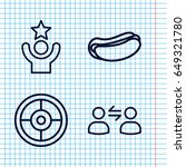 set of 4 idea outline icons... | Shutterstock .eps vector #649321780