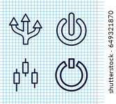 Set Of 4 Turn Outline Icons...