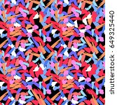 colorful paint strokes. pattern ... | Shutterstock .eps vector #649325440
