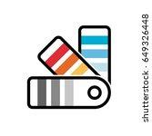 color palette guide picker... | Shutterstock .eps vector #649326448