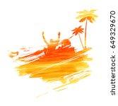 abstract painted splash shape... | Shutterstock .eps vector #649329670