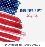 usa independence day background.... | Shutterstock .eps vector #649329673