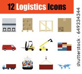 flat design logistics icon set...